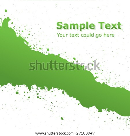 Green Ink Splash