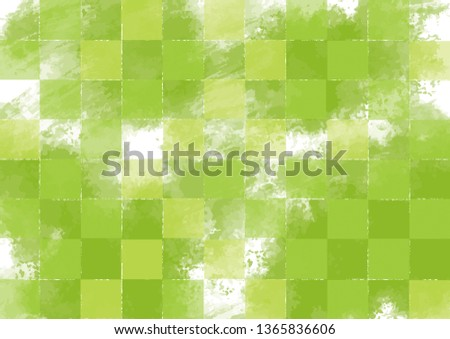 Green Japanese style pattern #1365836606