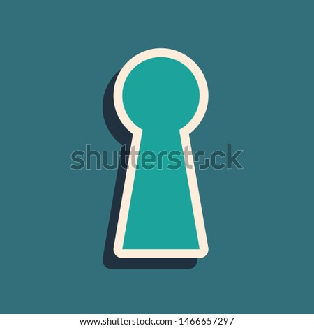 green keyhole icon isolated on