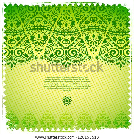Green Lace ornament