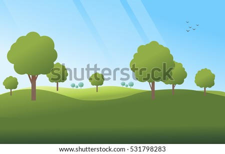 green landscape background