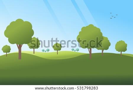green landscape background
