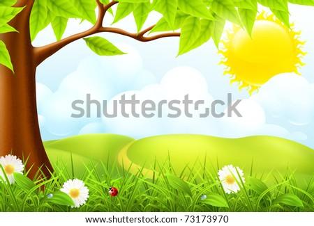 green landscape  10eps
