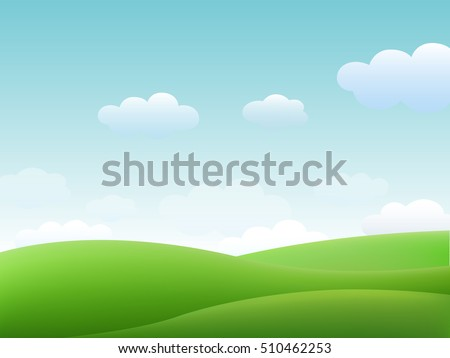 green landscape summer vector