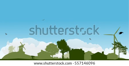 green landscape with trees and