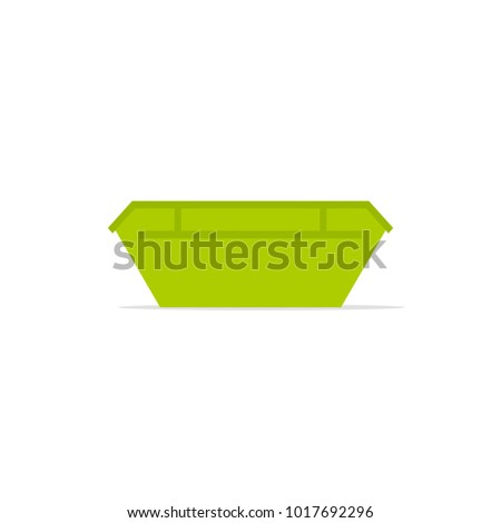green large waste skip bin icon