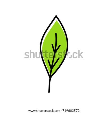 Green leaf icon Zdjęcia stock ©