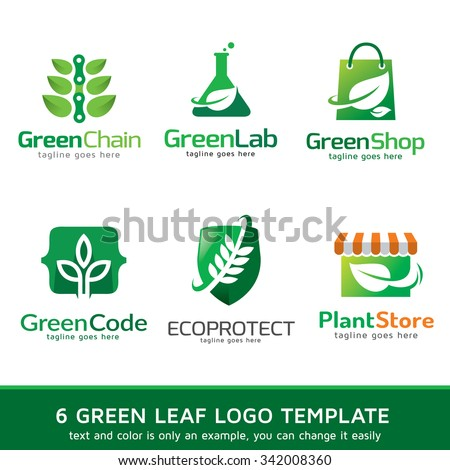Green Leaf Nature Logo Template Design Vector