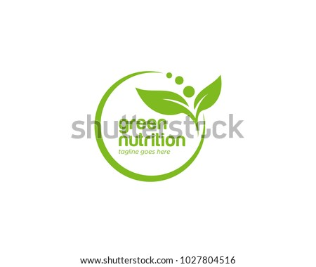 Green Leaf Nutrition Logo Template
