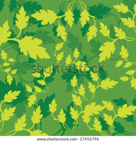 Green leaf pattern