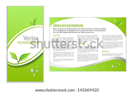 Green Leaflet with Eco Topic for Web or Print