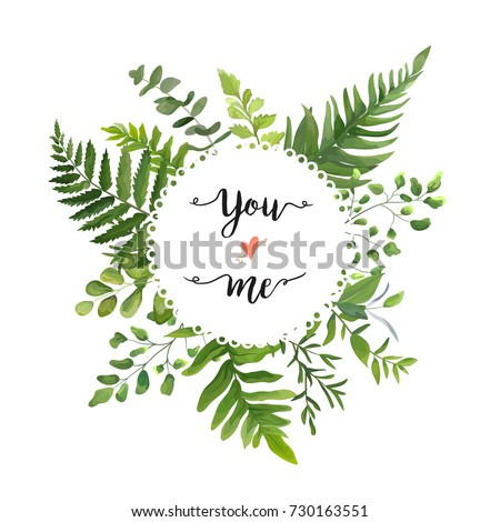 green leaves foliage vector...