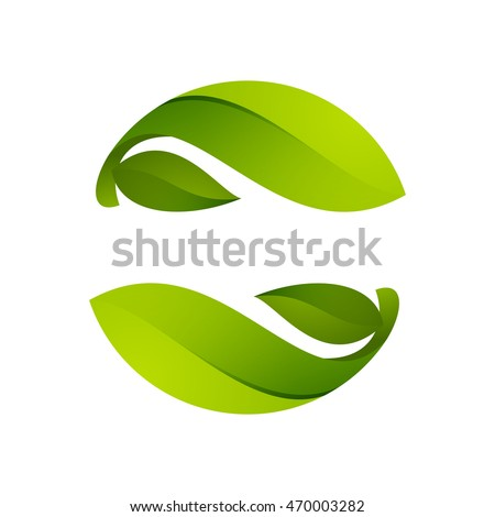 green leaves icon ecology