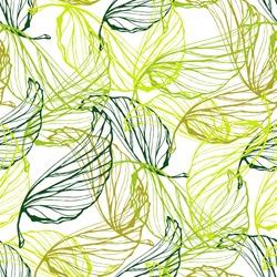 Green leaves semless pattern. Ecology design.