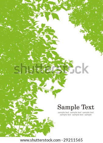green leaves vector - stock vector