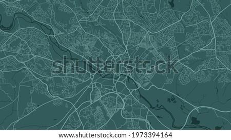 green leeds city area vector