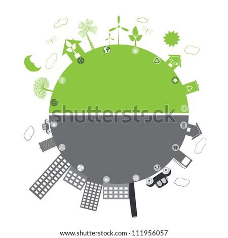 green life vs. pollution