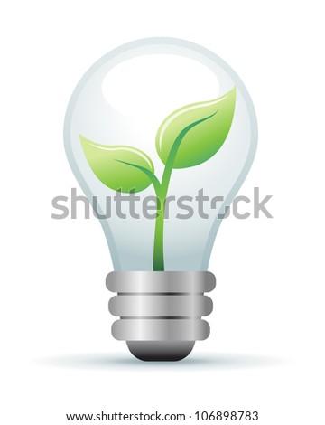 Green Lightbulb Illustration