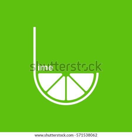 green lime logo design vector
