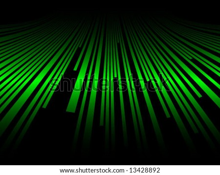 green line background - stock vector