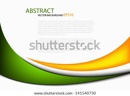 stock-vector-green-line-background-orange-yellow-vector-illustration-message-board-for-text-and-message-design