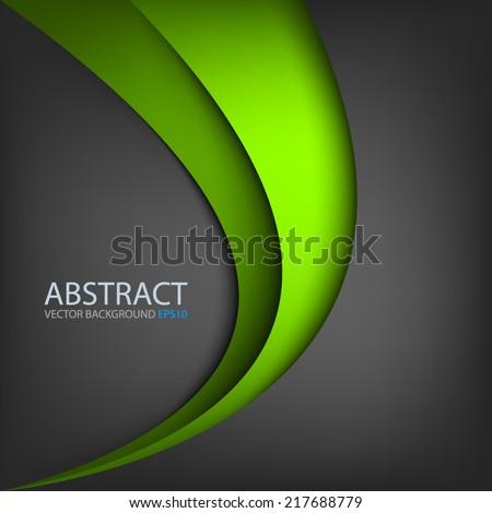 green line curve gradient