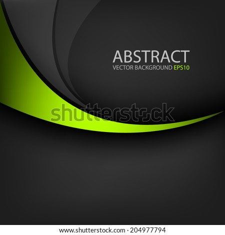 stock-vector-green-line-curve-on-black-background-vector-for-text-and-message-design