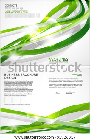 Green lines vector business template