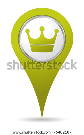 green location crown icon