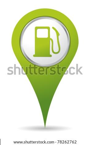green location gas pump icon