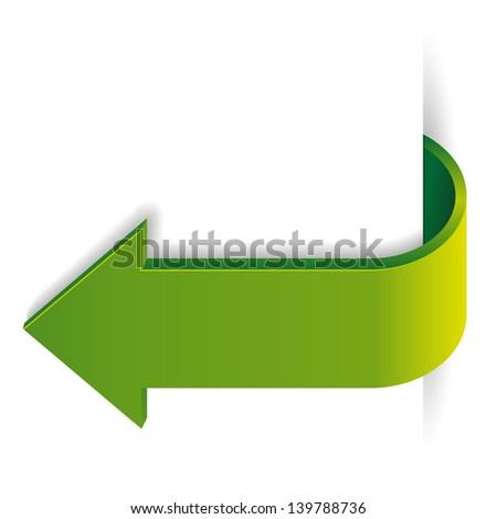 Green long arrow