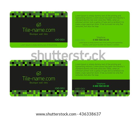 Green Loyalty Card Design Template Beautiful Gift Cards Business Isolated Shiny