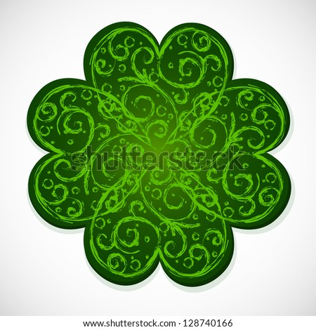 green lucky dutch clover on...