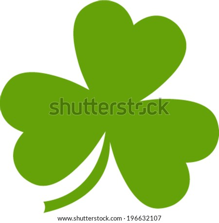 Green Lucky Irish Clover for St. Patrick's Day