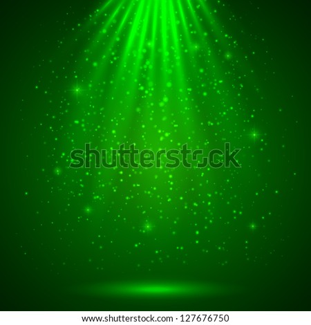 green magic light abstract