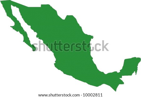 Green map of Mexico
