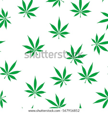green marijuana seamless