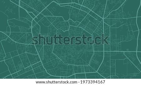 green milan city area vector