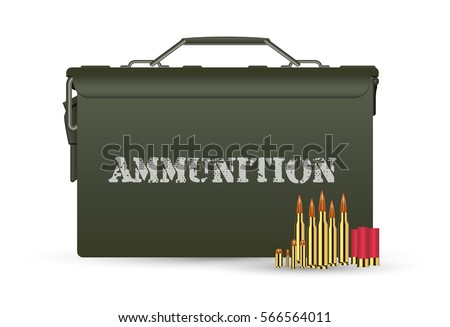 green military ammunition box