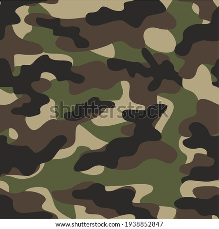 green military camouflage vector seamless pattern Stock photo ©