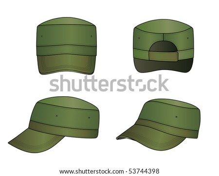 445b60d9c89f62 Vector Images, Illustrations and Cliparts: Green military cap vector  illustration isolated on white | Hqvectors.com