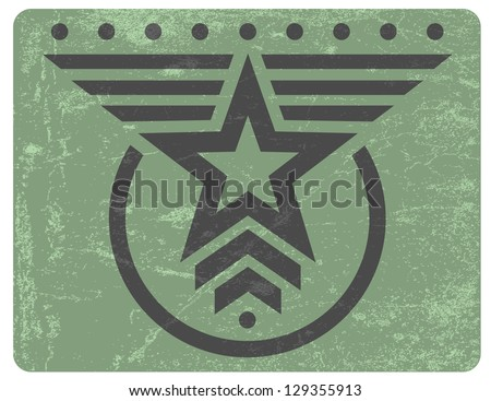 green military style grunge...