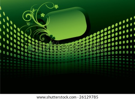 banner background green. stock vector : green modern