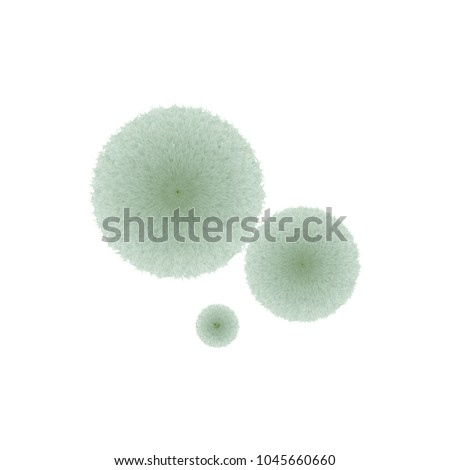 Green mold fluffy thread isolated on white background. Stock vector illustration of fungi growing on food.