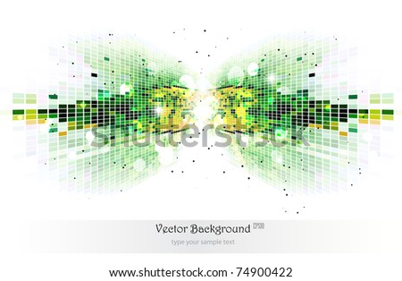 Green mosaic background.Vector illustration.