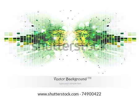 Green mosaic background.Vector illustration.