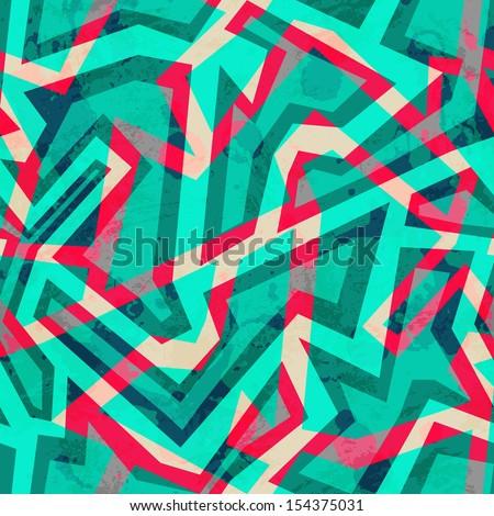 green mosaic seamless pattern