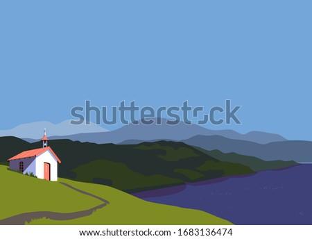 green mountain lake valley