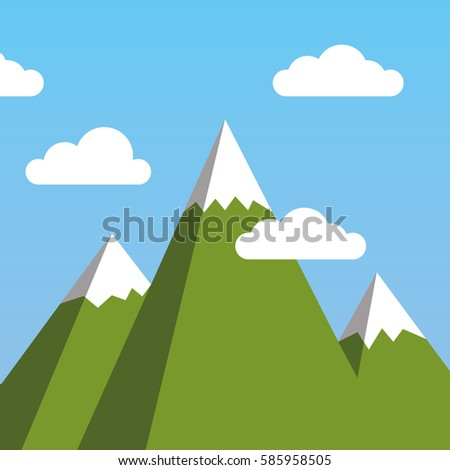 green mountains background