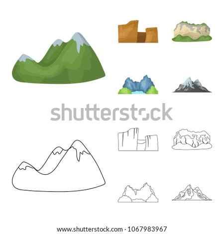 green mountains with snow tops